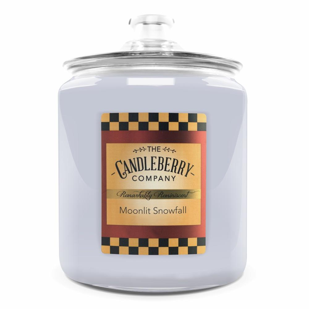 Moonlit Snowfall™, 160 oz. Jar, Scented Candle 160 oz. Cookie Jar Candle The Candleberry Candle Company