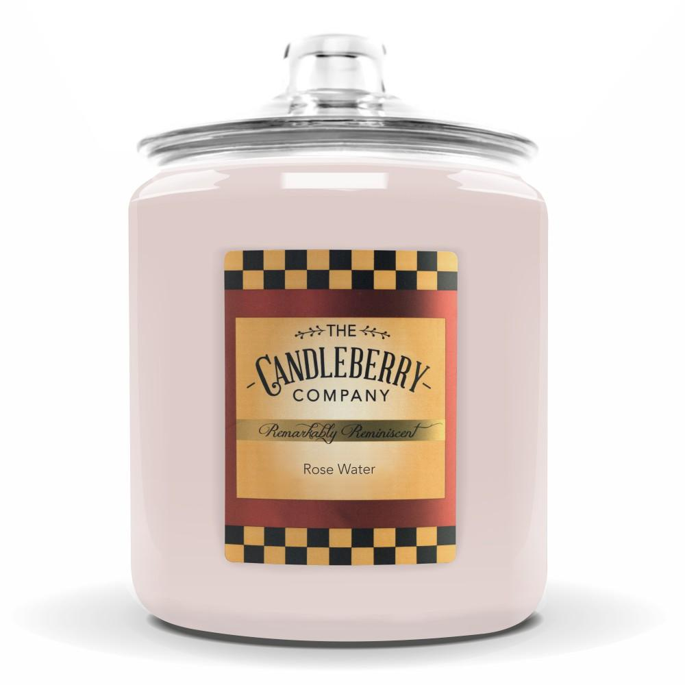 Rose Water™, 160 oz. Jar, Scented Candle 160 oz. Cookie Jar Candle The Candleberry Candle Company