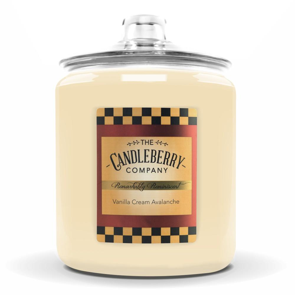 Vanilla Cream Avalanche, 160 oz. Jar, Scented Candle 160 oz. Cookie Jar Candle The Candleberry Candle Company