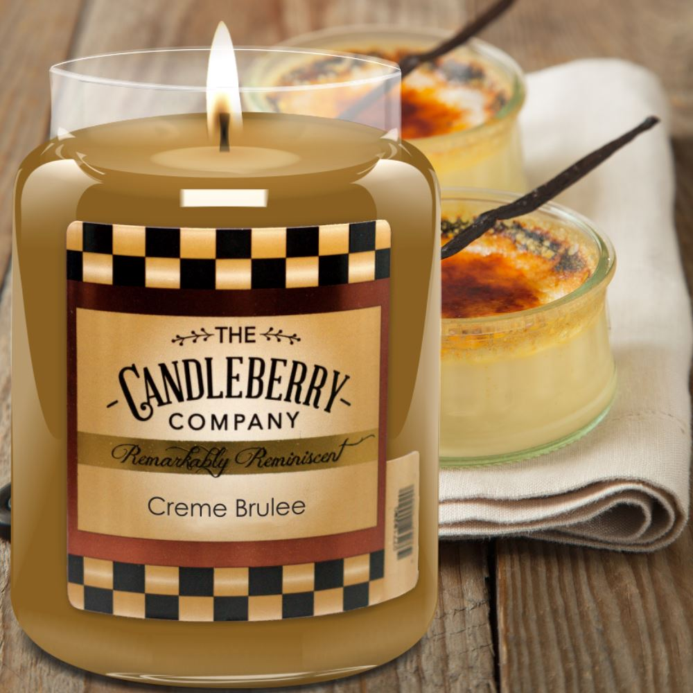 Creme Brulee™, 26 oz. Jar, Scented Candle 26 oz. Large Jar Candle The Candleberry Candle Company