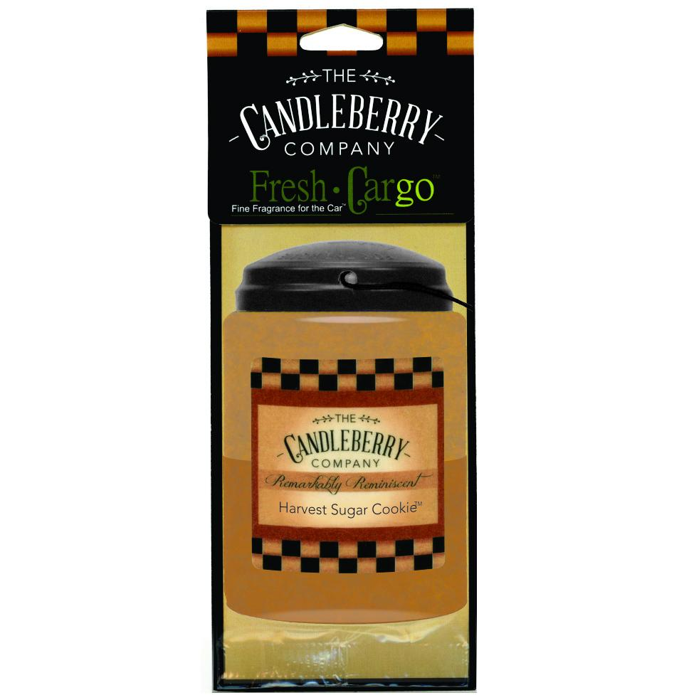 "Harvest Sugar Cookie™, 2-Pack, ""Fresh Cargo"", Scent for the Car Fresh CarGo® Car Scent The Candleberry Candle Company"