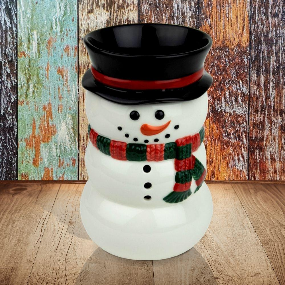 """Snowman"" Wax Tart Warmer, Including Safety Timer Warmer The Candleberry Candle Company"