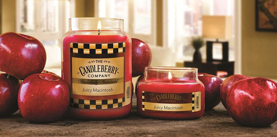 Juicy Macintosh™, 10 oz. Jar, Scented Candle 10 oz. Small Jar Candle The Candleberry Candle Company