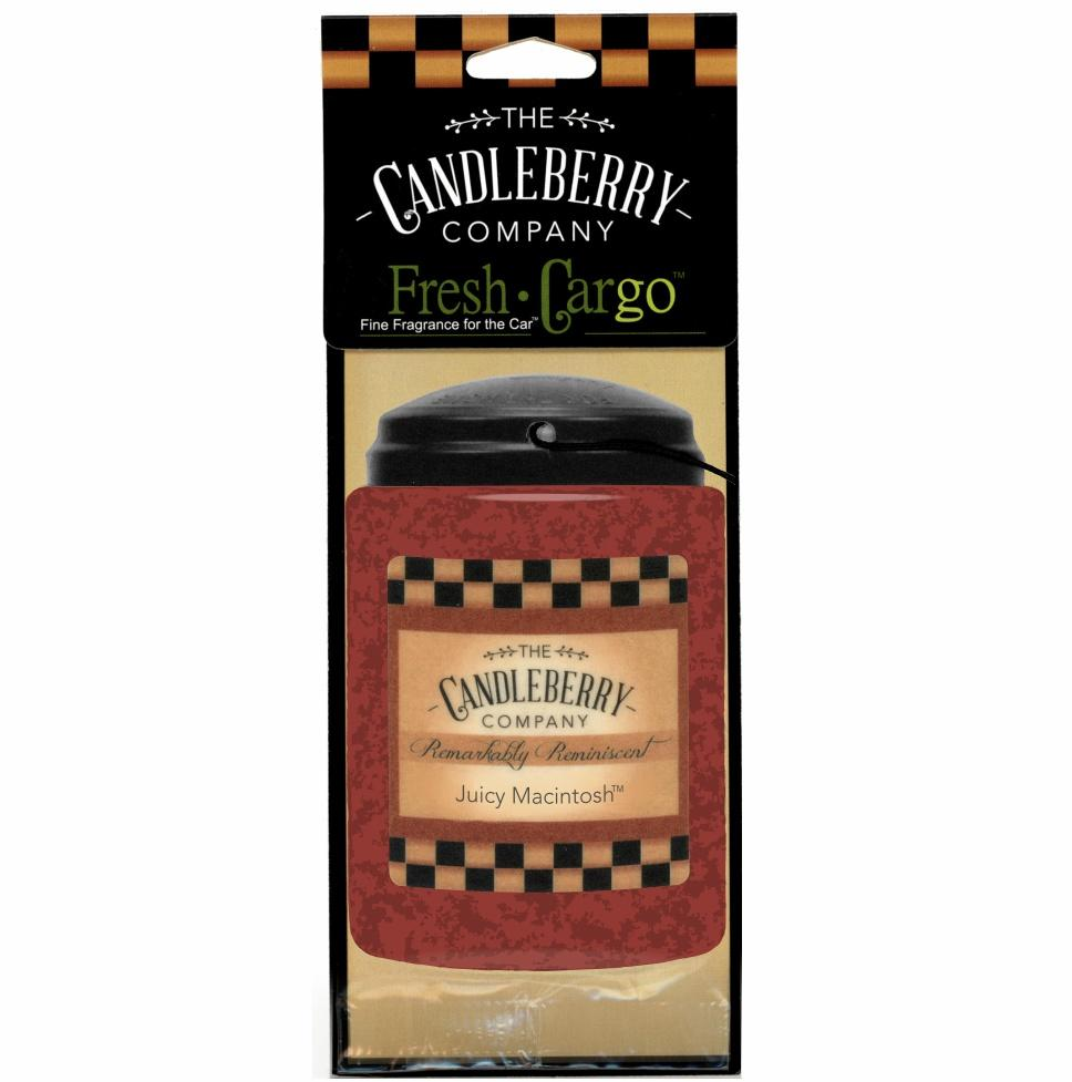 "Juicy Macintosh™, 2-Pack, ""Fresh Cargo"", Scent for the Car Fresh CarGo® Car Scent The Candleberry Candle Company"