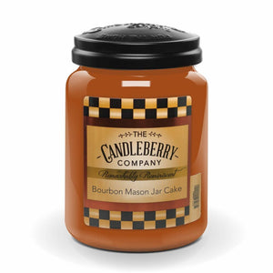 Bourbon Mason Jar Cake, 26 oz. Jar, Scented Candle 26 oz. Large Jar Candle The Candleberry Candle Company