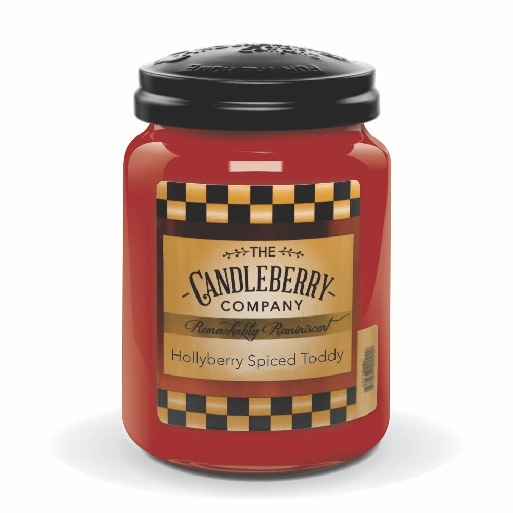 Hollyberry Spiced Toddy, 26 oz. Jar, Scented Candle 26 oz. Large Jar Candle The Candleberry Candle Company