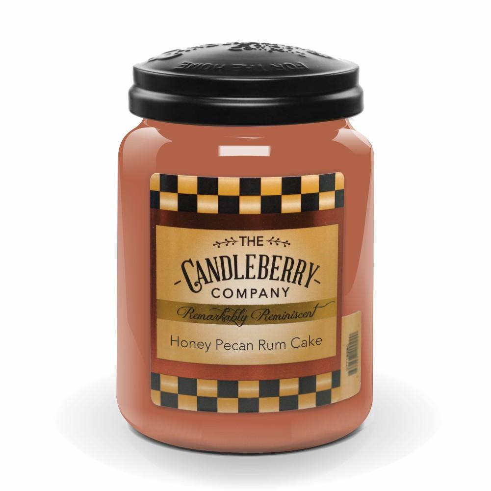 Honey Pecan Rum Cake, 26 oz. Jar, Scented Candle 26 oz. Large Jar Candle The Candleberry Candle Company