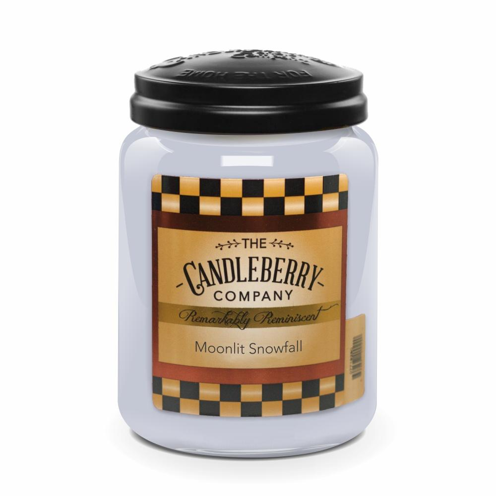 Moonlit Snowfall™, 26 oz. Jar, Scented Candle 26 oz. Large Jar Candle The Candleberry Candle Company