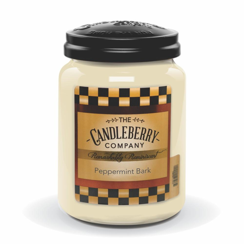 Peppermint Bark, 26 oz. Jar, Scented Candle 26 oz. Large Jar Candle The Candleberry Candle Company