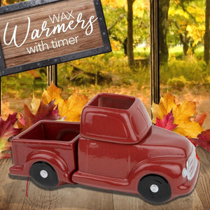 """Little Red Truck"" Wax Tart Warmer, Including Safety Timer Warmer The Candleberry Candle Company"