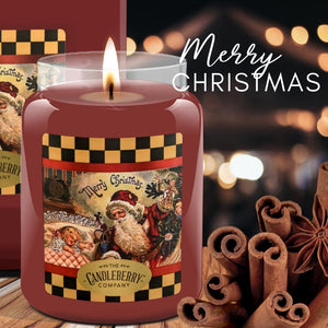 Merry Christmas™, 26 oz. Jar, Scented Candle 26 oz. Large Jar Candle The Candleberry Candle Company