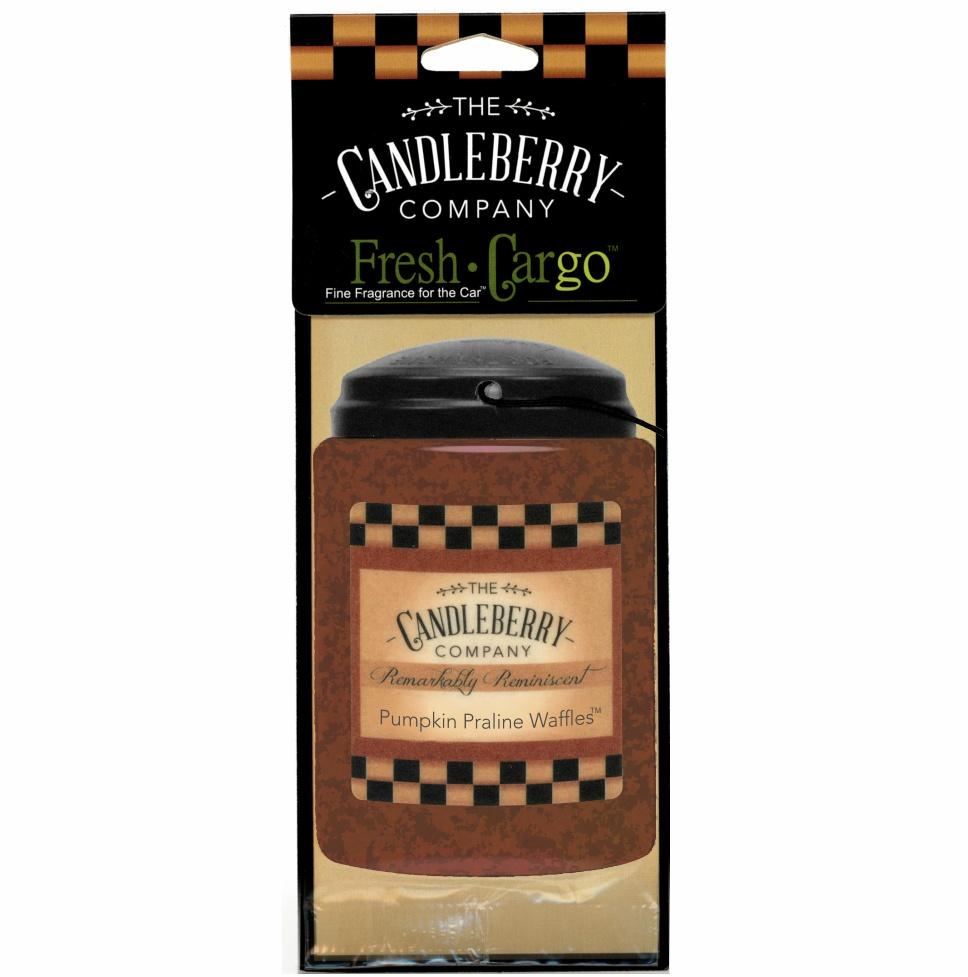 "Pumpkin Praline Waffles™, 2-Pack, ""Fresh Cargo"", Scent for the Car Fresh CarGo® Car Scent The Candleberry Candle Company"