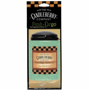 "Sea Salt & Surf™, 2-Pack, ""Fresh Cargo"", Scent for the Car Fresh CarGo® Car Scent The Candleberry Candle Company"