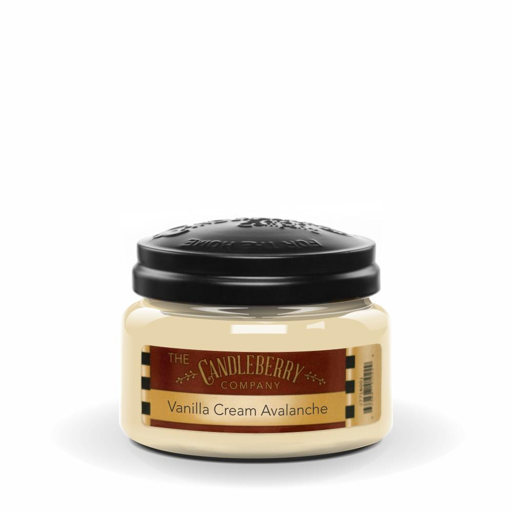 Vanilla Cream Avalanche, 10 oz. Jar, Scented Candle 10 oz. Small Jar Candle The Candleberry Candle Company