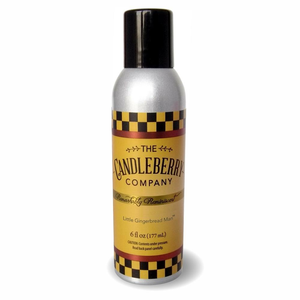 Little Gingerbread Man™, 6 oz. Room Spray 6 oz. Room Spray The Candleberry® Candle Company