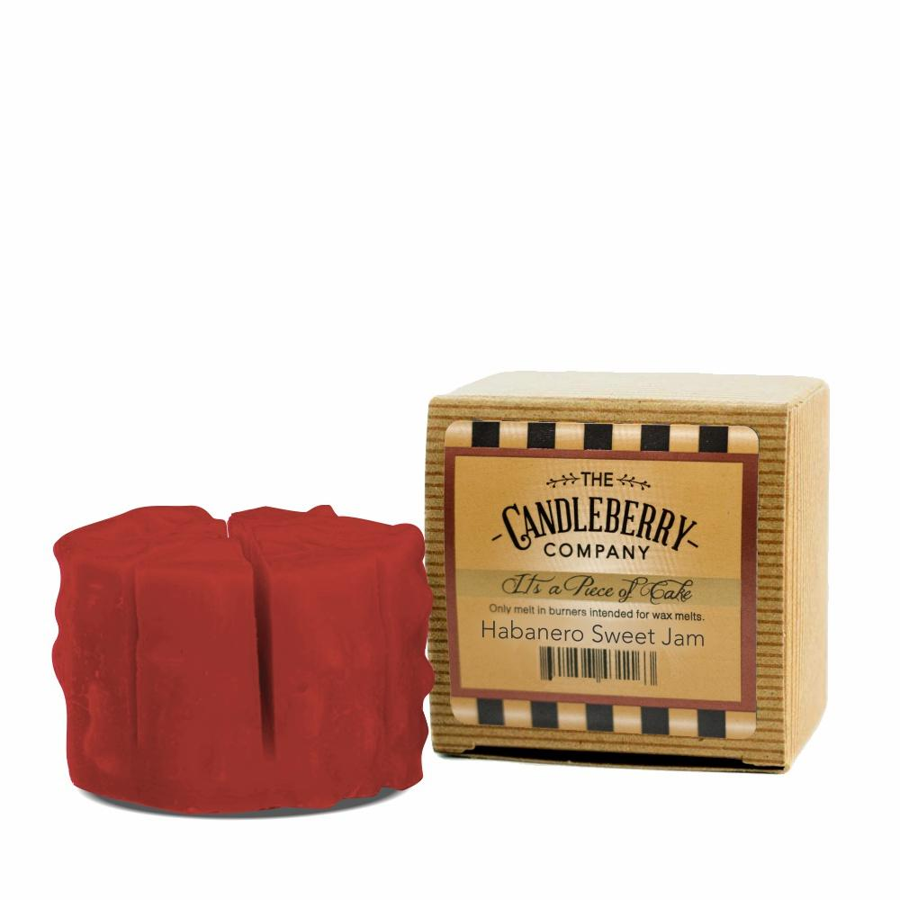 "Habanero Sweet Jam™, ""It's a Piece of Cake"" Scented Wax Melts ""It's a Piece of Cake""® Wax Melts The Candleberry Candle Company"