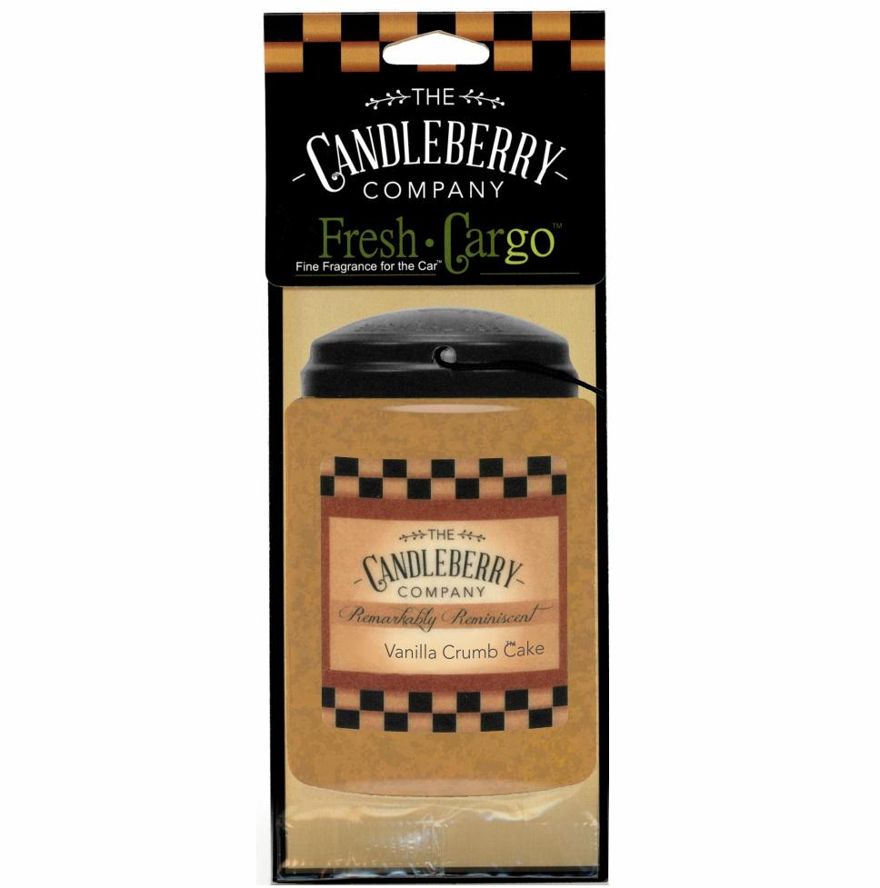 "Vanilla Crumb Cake™, 2-Pack, ""Fresh Cargo"", Scent for the Car Fresh CarGo® Car Scent The Candleberry Candle Company"