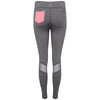 Isla Leggings in grey and pink with mesh detail by Melany K London