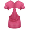 Gracie Short Sleeved Top in pink with back detail by Melany K London