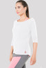Marla Long Sleeved Top in white by Melany K London