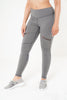 Isla Leggings in grey with mesh detail by Melany K London