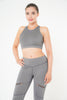Isla Leggings in grey with single zip detail by Melany K London