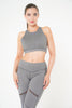 Isla Leggings in grey with zip detail by Melany K London