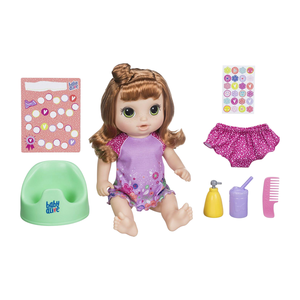Baby Alive Potty Dance Baby Exclusive Red Curly Hair Speaks Sings Hasbro
