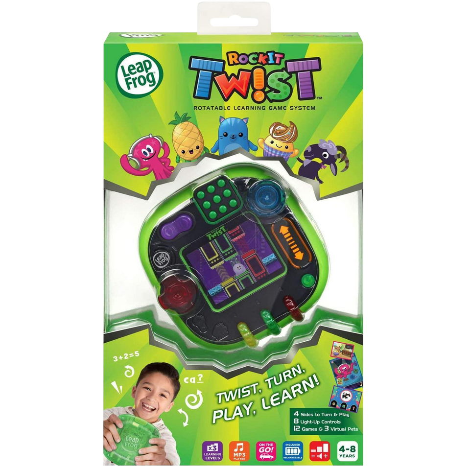 LeapFrog RockIt Twist Game System Green Handheld Learning Interactive VTech
