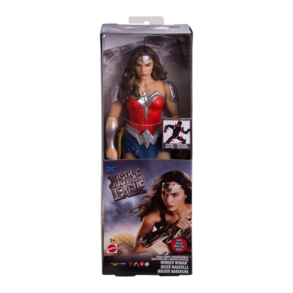 DC Comics Justice League Wonder Woman Metallic Armor Figure