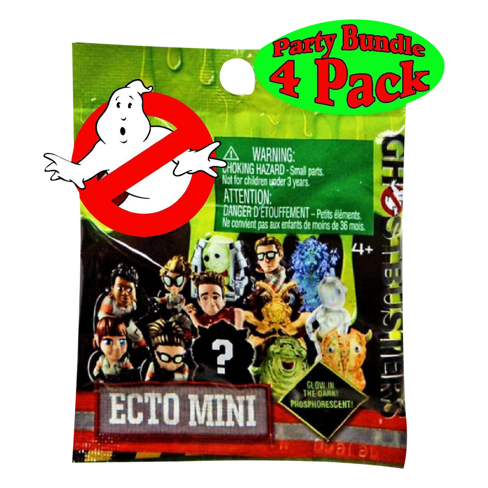 Ghostbusters Ecto Minis Blind Bags 4-pack Glow in Dark Ghosts Mystery Figures