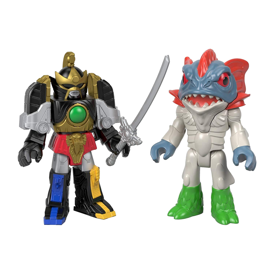 Mighty Morphin Power Rangers Thunder Megazord & Pirantishead Action Figures