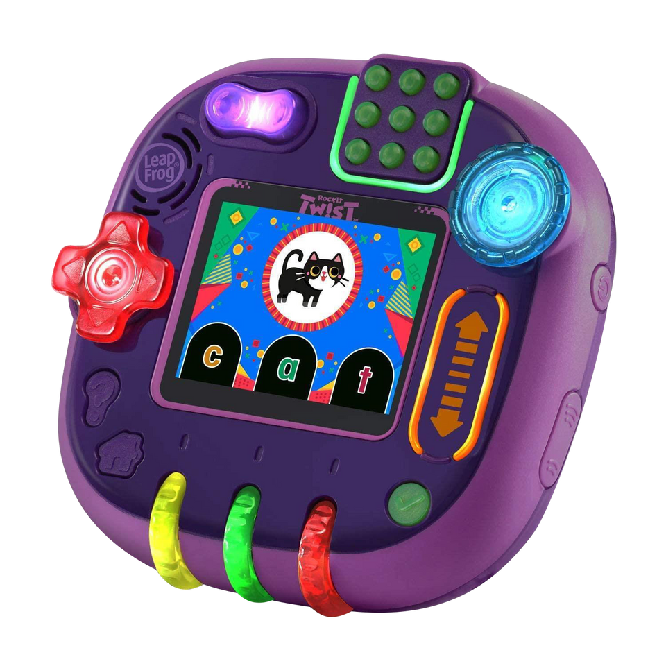 LeapFrog RockIt Twist Game System Purple Handheld Learning Interactive VTech
