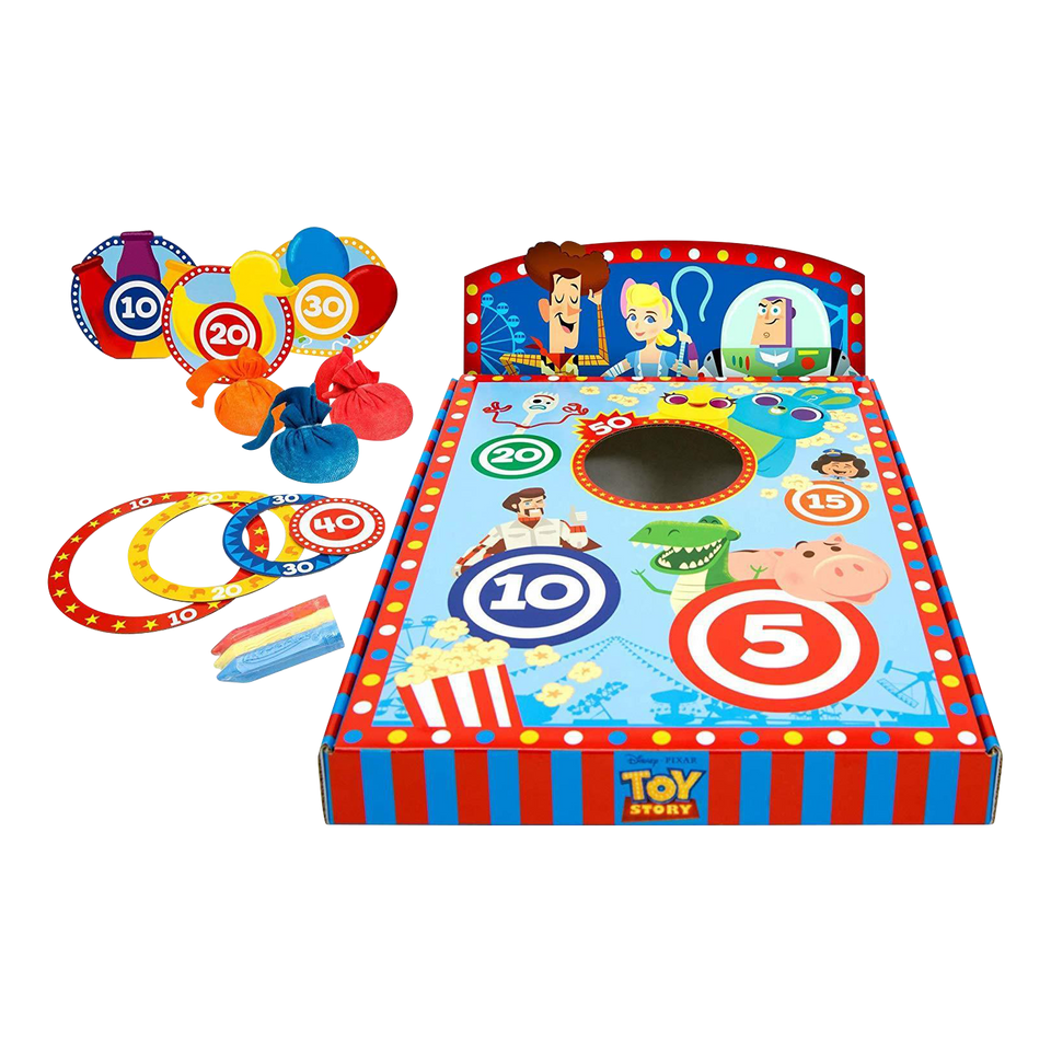 Mattel Disney Pixar Toy Story 4 Carnival Chalk Kids Activity Game Bundle
