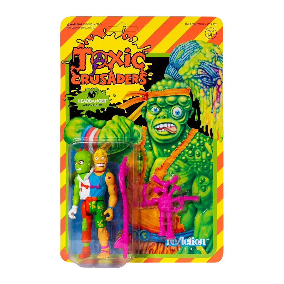 Headbanger Toxic Crusaders Reaction Figure - Articulated  (Retro)