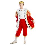 5 O'Reet British Royal King George Boys Plush Costume Dress-Up Play Kids Size Extra Small