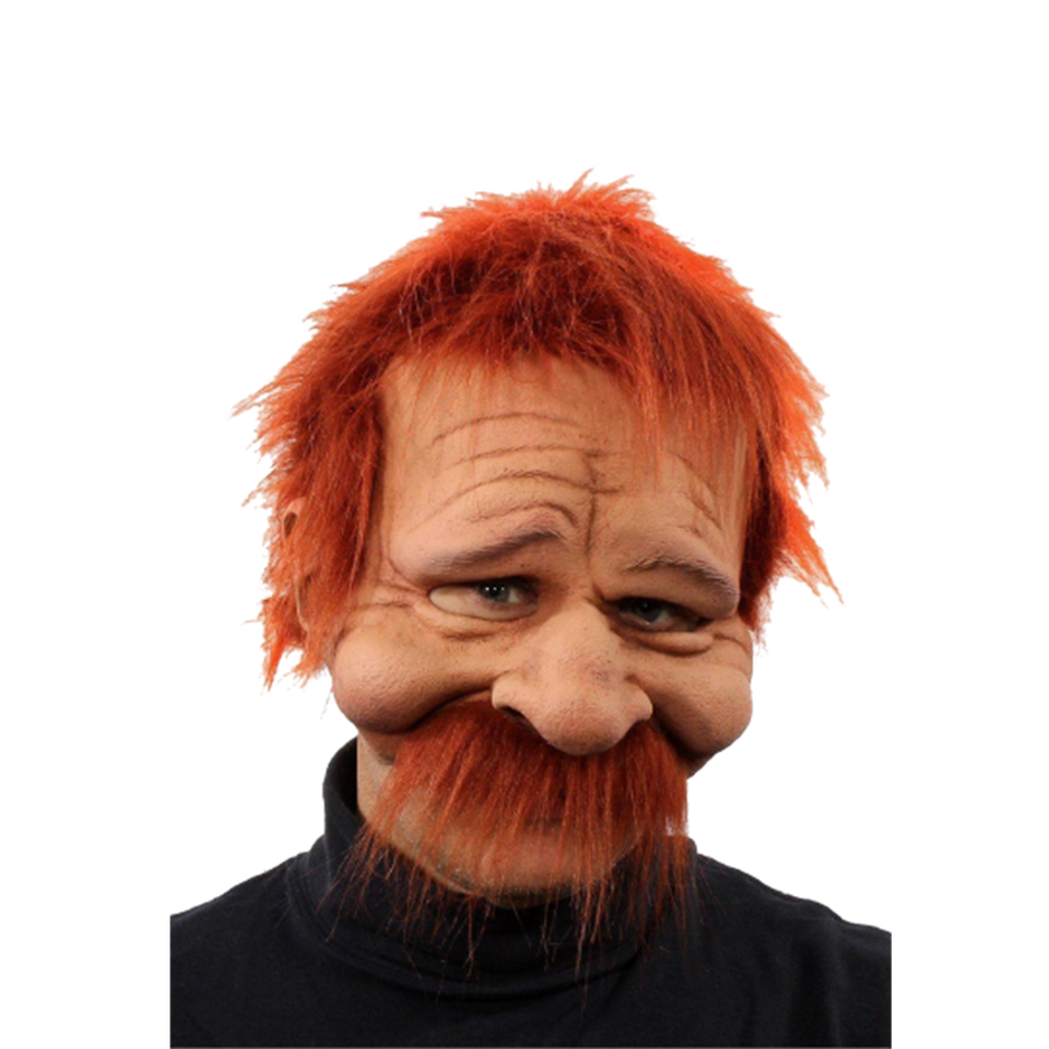 Rusty Red Head Ginger Older Man Mask Realistic