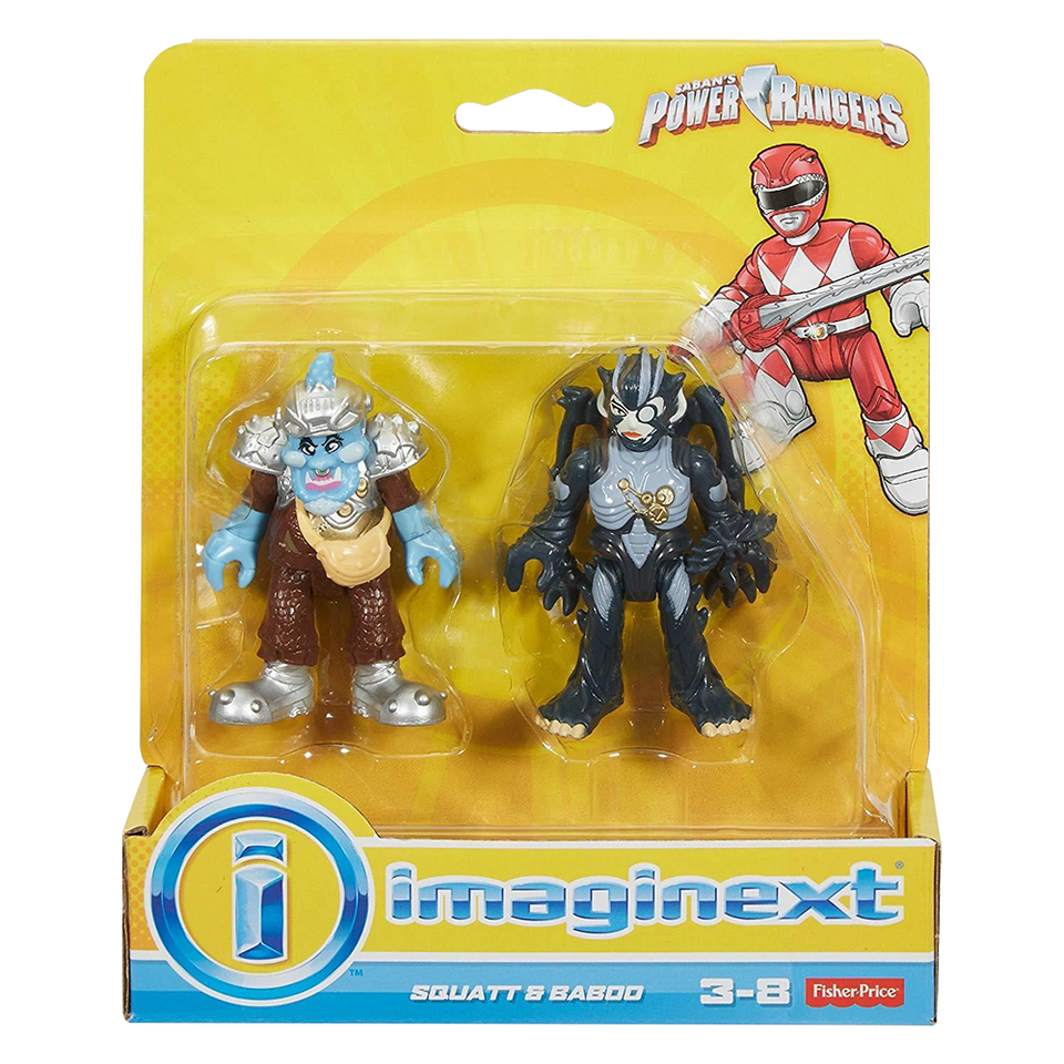 Imaginext: Squat & Baboo Figures Mighty Morphin Power Rangers