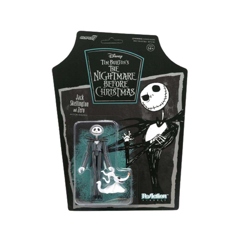 Disney Nightmare Before Christmas Jack Skellington Reaction Figure Wave 1 - Articulated (Retro)