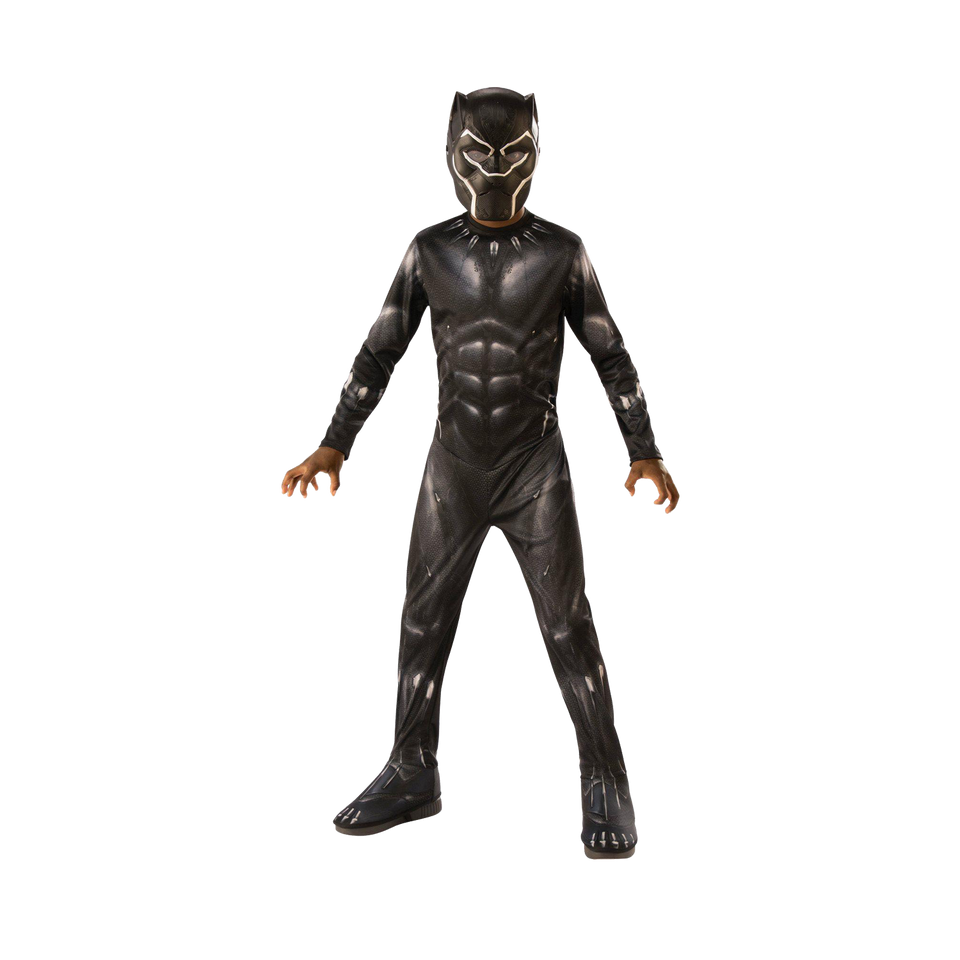 Marvel Avengers Endgame Black Panther Boys size Licensed Costume Jumpsuit - Large (12/14)