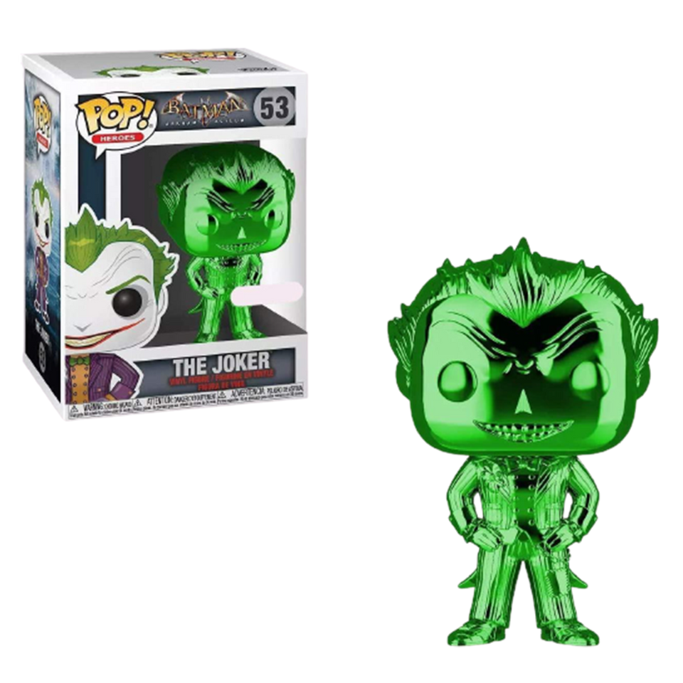 POP Hereos Green Chrome Joker Arkham Asylum Batman DC Comics