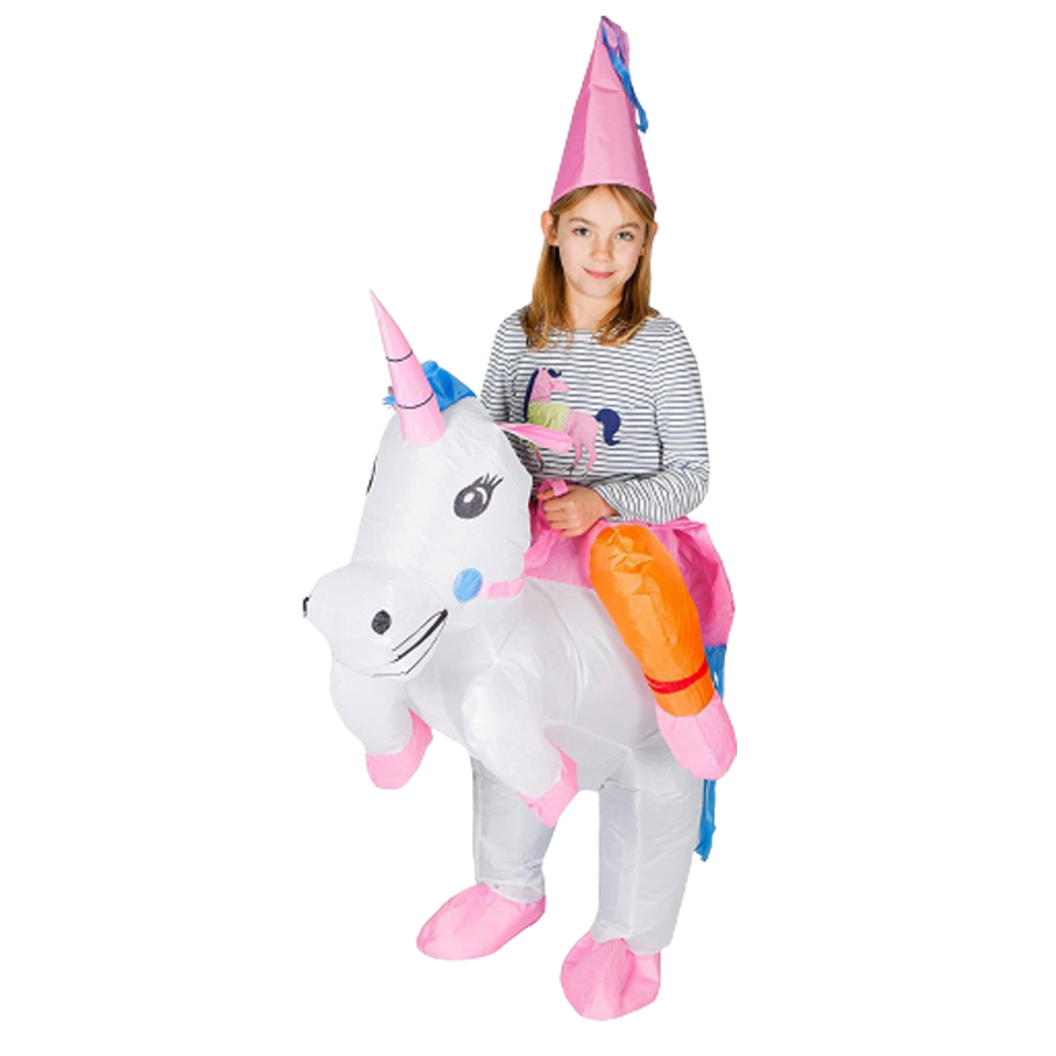 Inflatable Unicorn Horse Fancy Dress Kids Costume - O/S