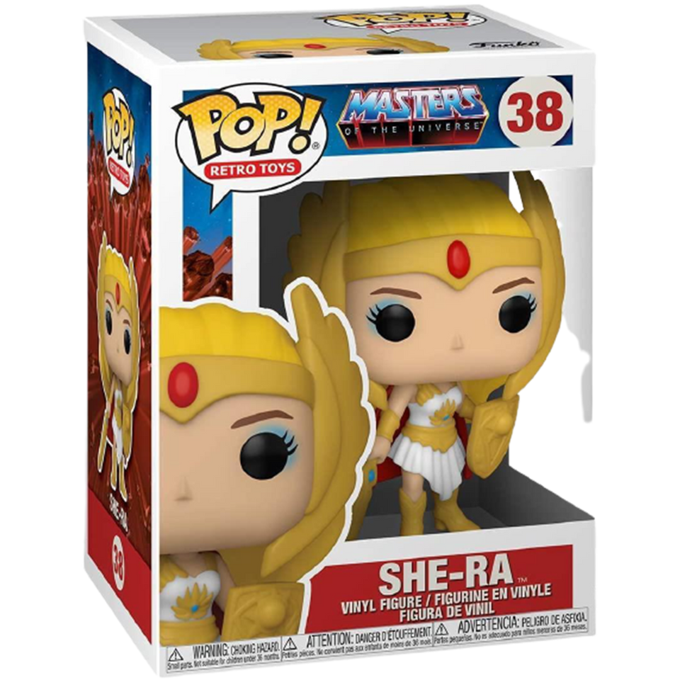 Pop Masters of The Universe She-Ra Retro Specialty Series Figure Glows