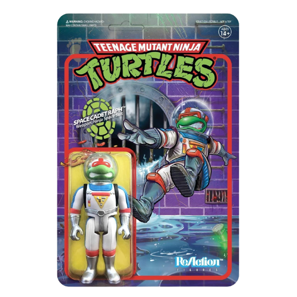 Teenage Mutant Ninja Turtles Space Cadet Raphael ReAction Figure Collectable - Articulated (Retro)