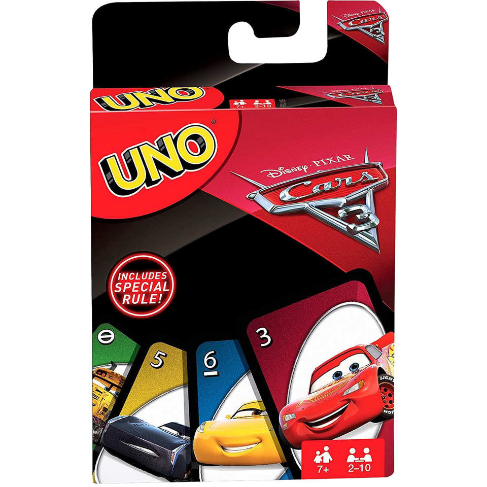 UNO Disney Pixar Cars Card Matching Family Friendly Fun