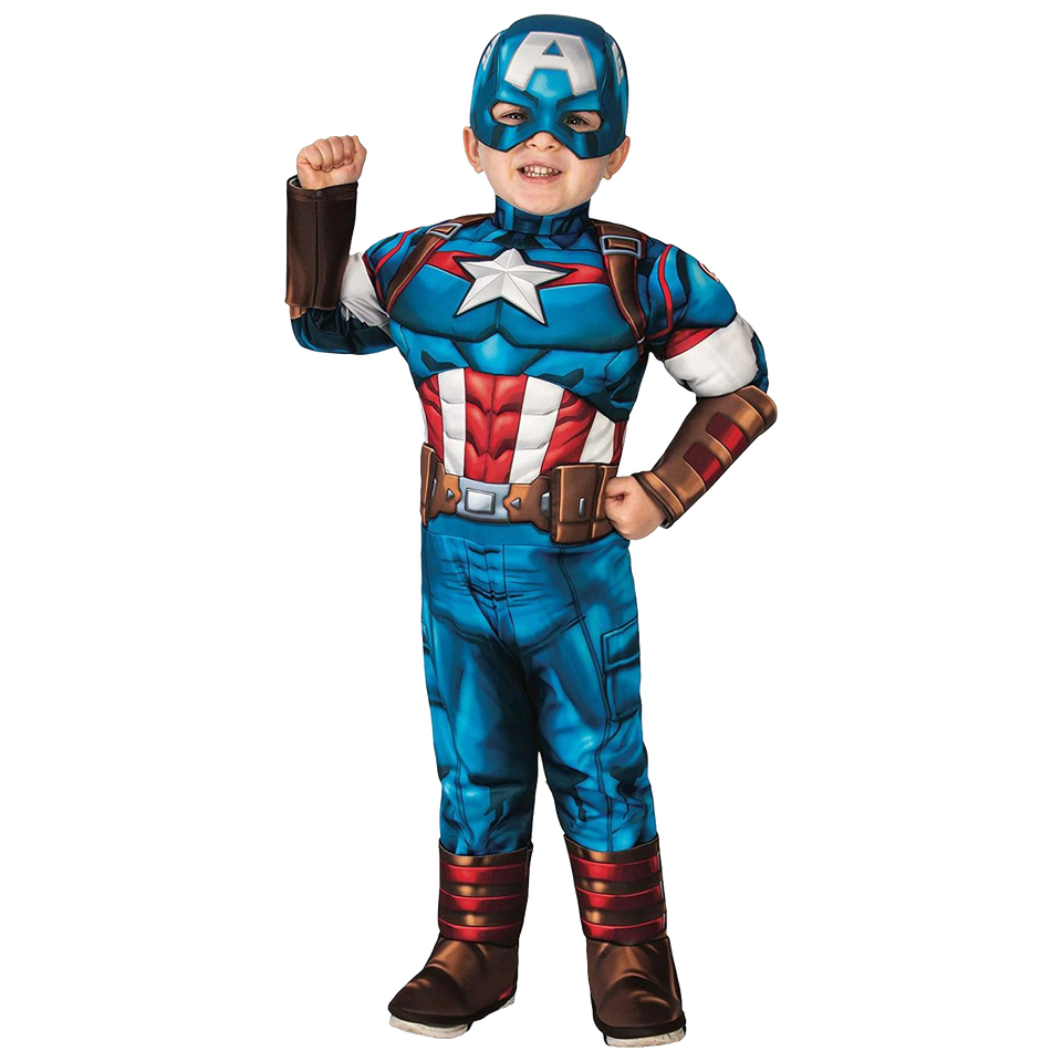 Marvel Captain America Deluxe Toddler Licensed Costume - (2/4)