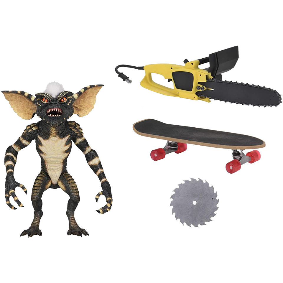 "Gremlins Ultimate Stripe Figure 7"" Scale Horror Chainsaw Skateboard"