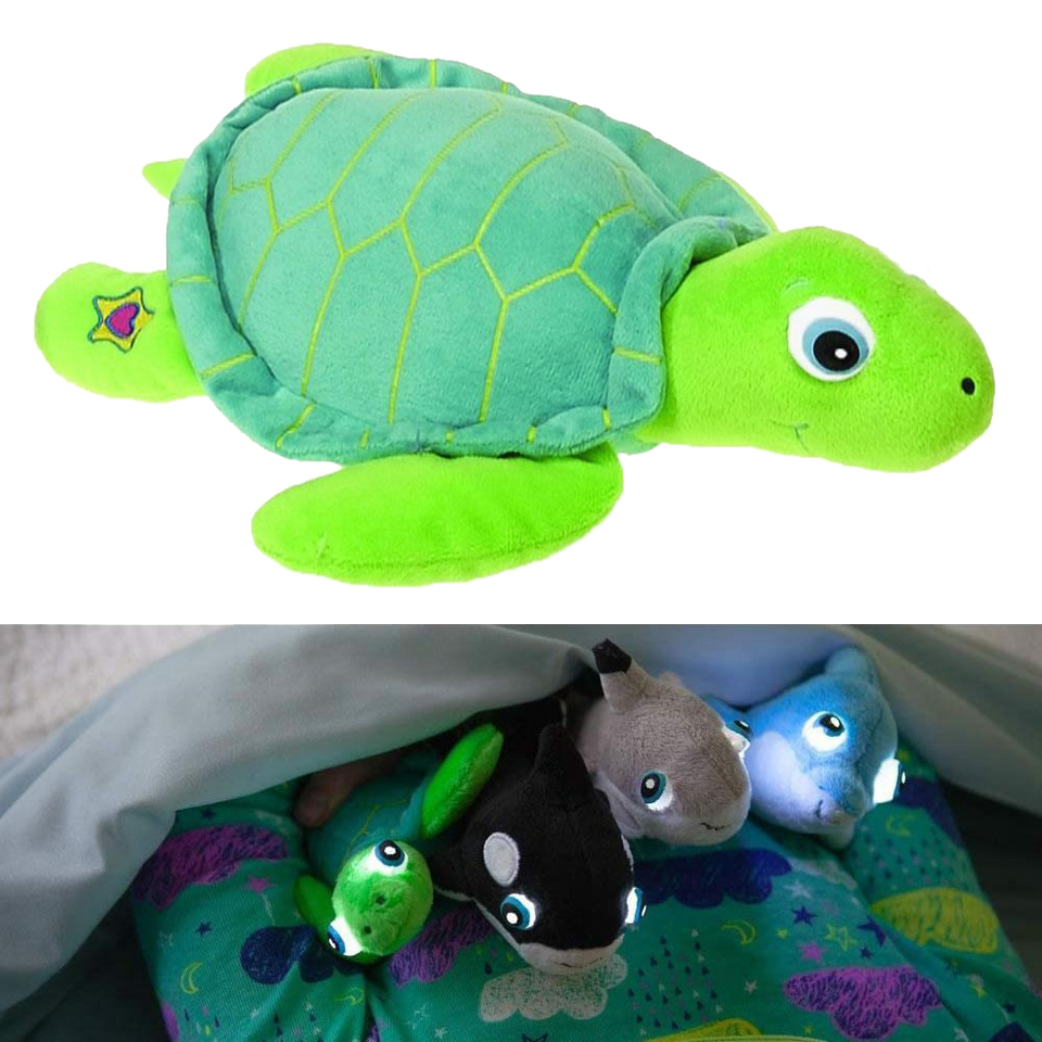 NightBuddies Baby Sea Life Seraphina Baby Turtle Light-Up Plush Animal Toy