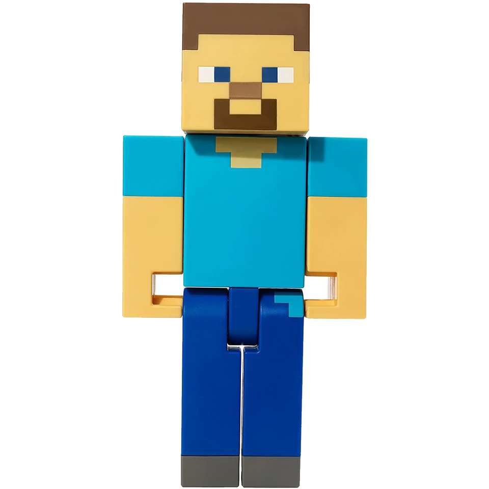 "Minecraft Steve Large Scale Action Figure 8.5"" Poseable Collectable"