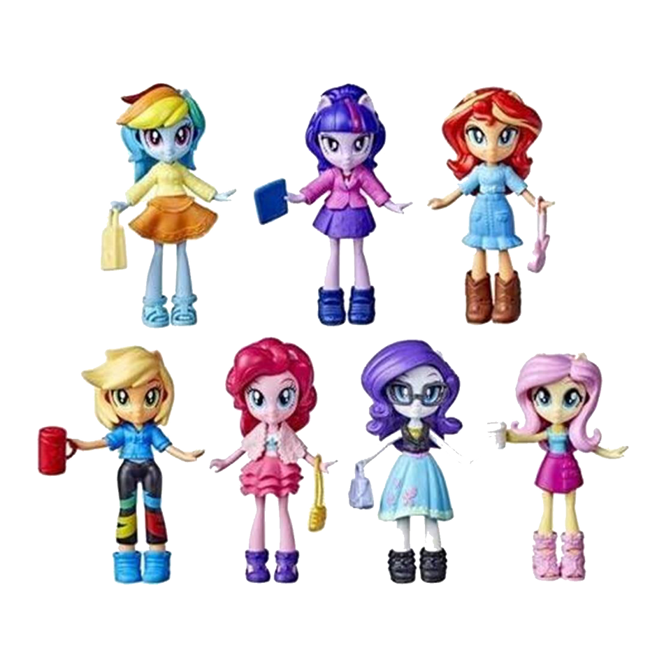 MLP Equestria Girls Fashion Squad 7-Pack My Little Pony Dress Up Figures